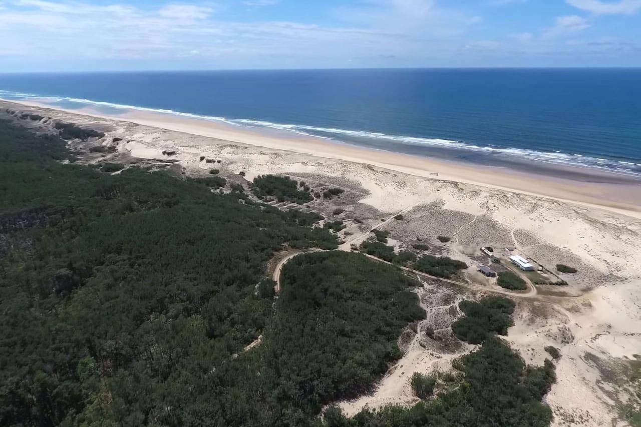 Vidéo : la plage de Contis vue du ciel par Jean-Baptiste Mora
