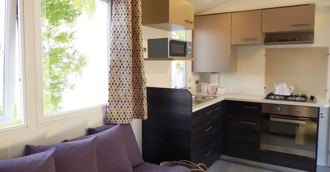 Location Mobilhome 3ch 6/8 personnes : Cuisine