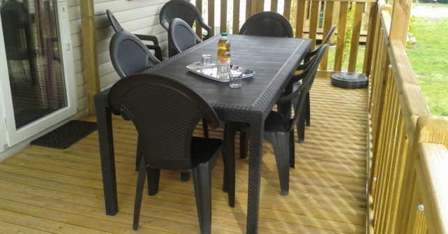Location Mobilhome 3ch 6/8 personnes : Terrasse