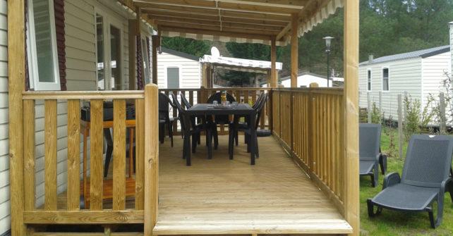 Mobilhome : terrasse